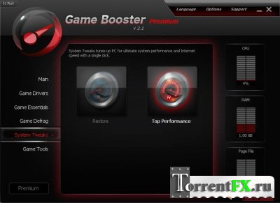 Game Booster Premium 2.1 Final (2010) PC